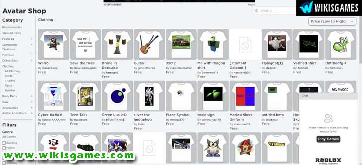Free Roblox Clothes
