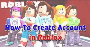 create roblox account